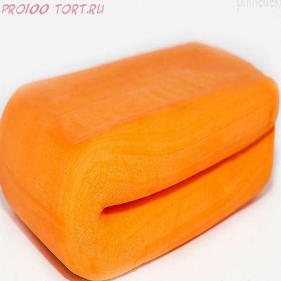 Мастика сахарная Оранжевая РОСДЕКОР вес 100 гр.