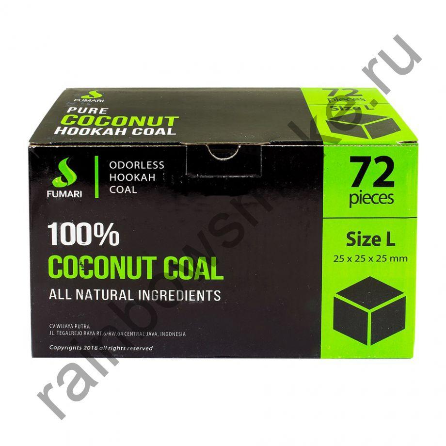Уголь кокосовый  для кальяна Fumari 25мм (72 шт)