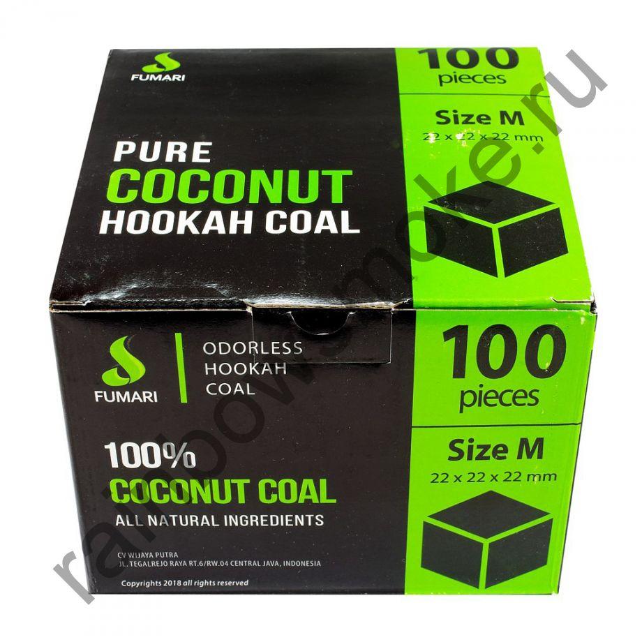 Уголь кокосовый  для кальяна Fumari 22мм (100 шт)