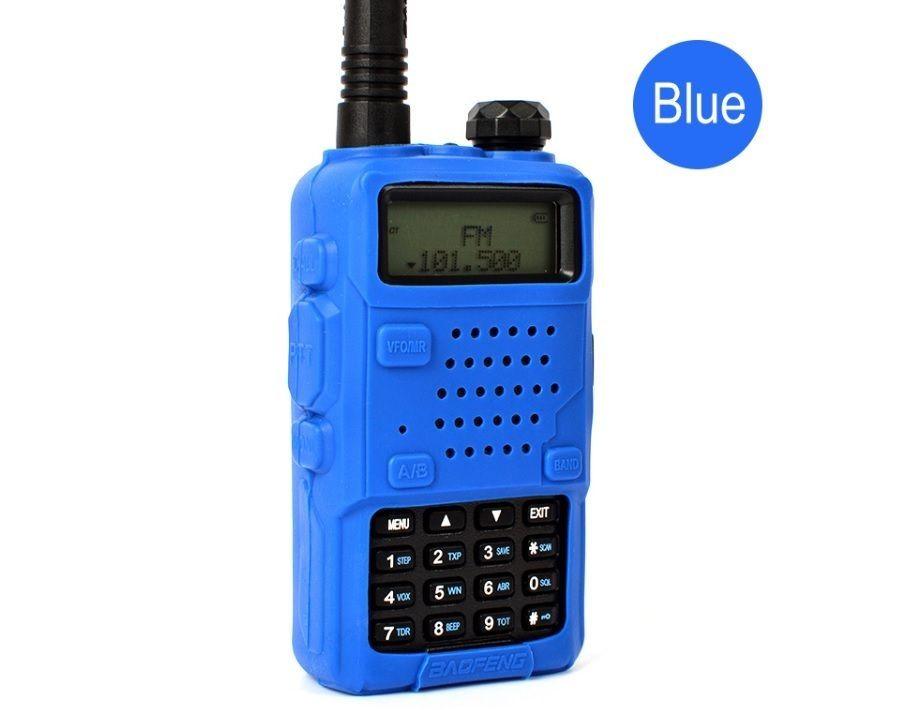 Резиновый чехол для рации Baofeng UV-5R синий