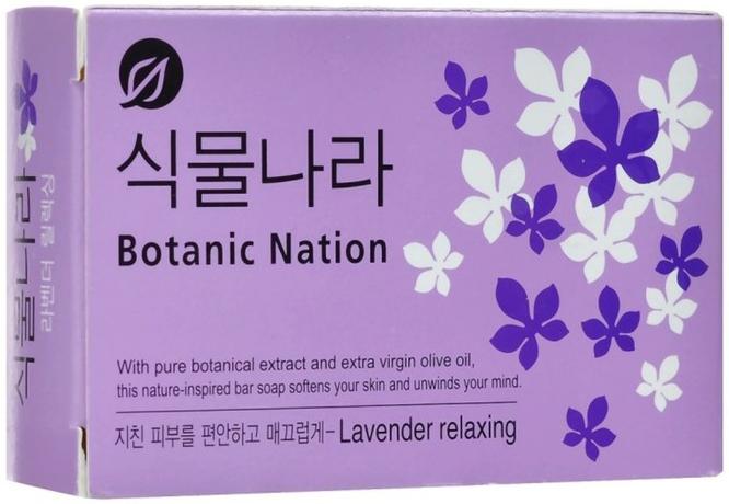 CJ Lion Мыло туалетное Botanical Nation экстракт лаванды 100 г * 3 шт
