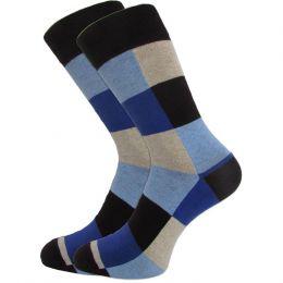 Мужские цветные носки  с418 цветные квадраты
