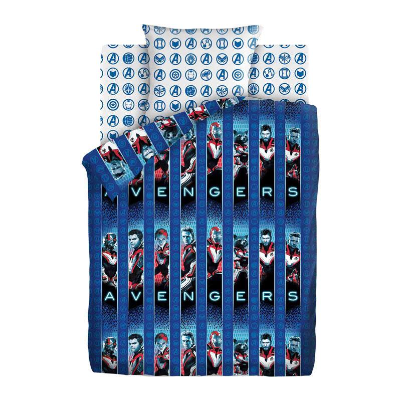 """Детское постельное белье """"Avengers"""", рис.16161-1-16159-2 (Мстители), 1.5сп."""