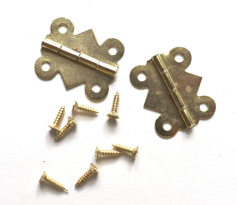 Петля для шкатулки ажурная, золото, 25*20 мм, 2 шт/уп