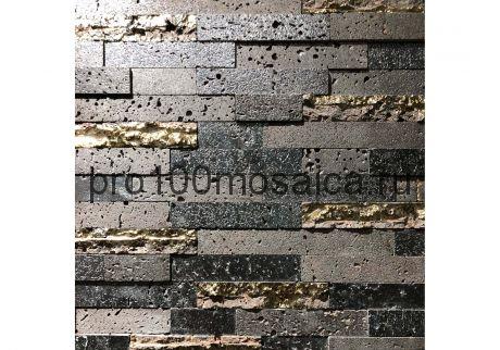 Декор LAVA BLACK. Мозаика серия LAVA, размер, мм: 300*300*12 (ORRO Mosaic)