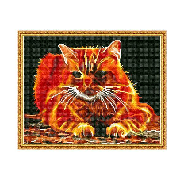 Набор Алмазная мозаика Огненный с рамкой 40*50см