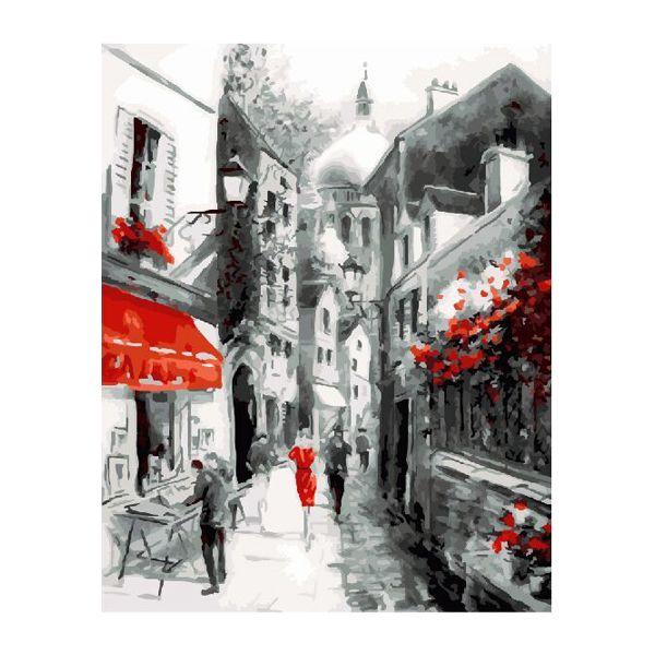 Картина по номерам Улочка старого города 40*50см