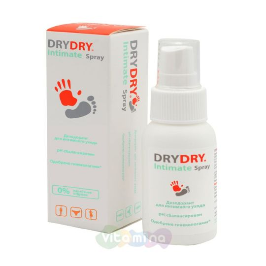 DRY DRY Intimate Spray Спрей дезодорант для интимного ухода, 50 мл