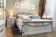 Кровать ЭЛЕГАНЦА 160*200 с изножья эмаль