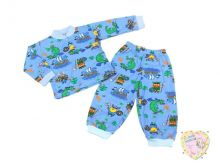 """Пижама детская с кокеткой C-PJ023(2)-SU """"Мамин Малыш"""" оптом (код 01775)"""