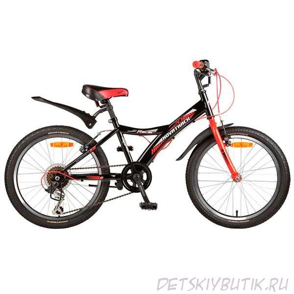 """Велосипед детский NOVATRACK RACER 20"""" (2017), черный"""