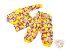 Пижама для девочки с кокеткой C-PJ023(2)-SU (код 01775-1) Мамин Малыш OPTMM.RU
