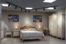 Спальня БАРОККО шамони светлый 4-дверный  шкаф
