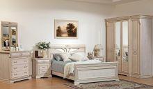 Спальня ВАЛЕНСИЯ дуб шамони светлый 4-дверный шкаф
