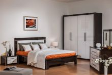 Спальня МАРТЕЛЬ-2 венге белый 4-дверный шкаф