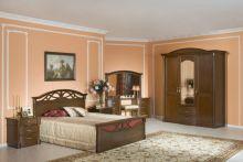 Спальня ЭЛЕГАНЦА орех 3-дверный шкаф