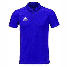 Футболка-поло adidas Tiro 17 Polo синяя