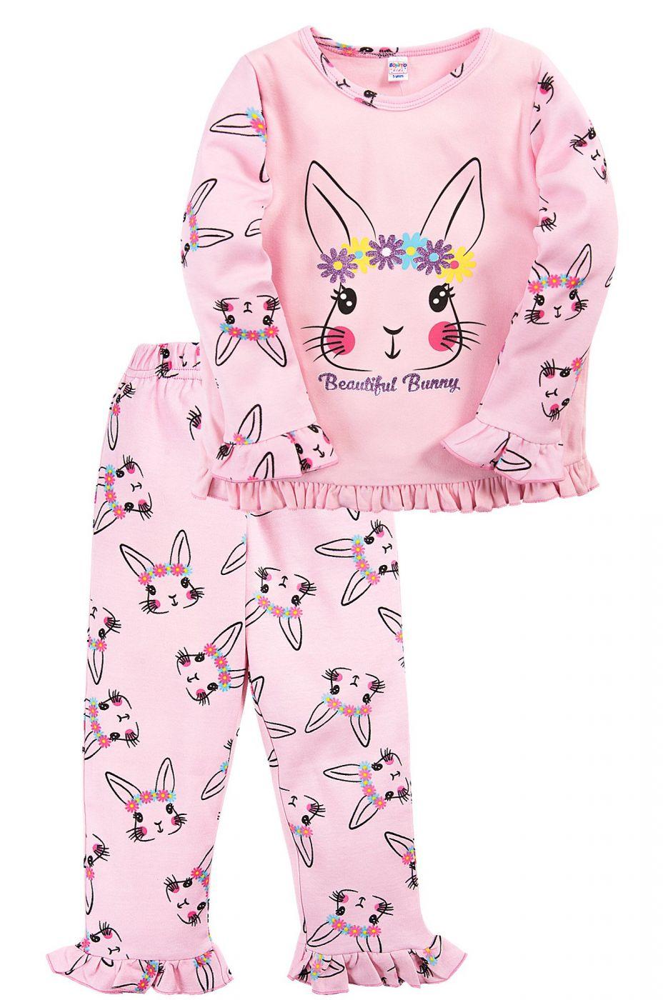 Пижама для девочки Bonito светло-розовая кролик Bunny
