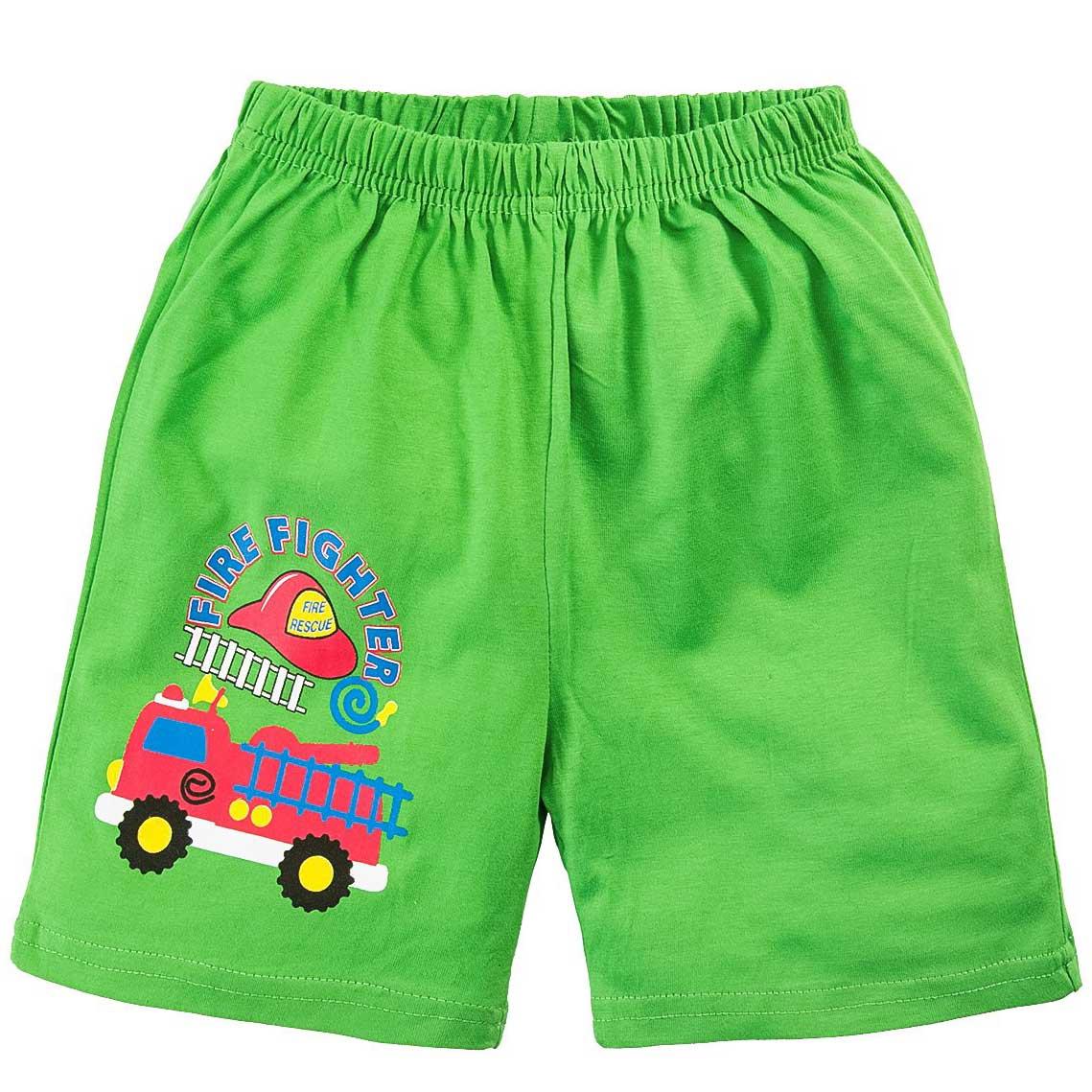 Шорты для мальчика зеленые с принтом