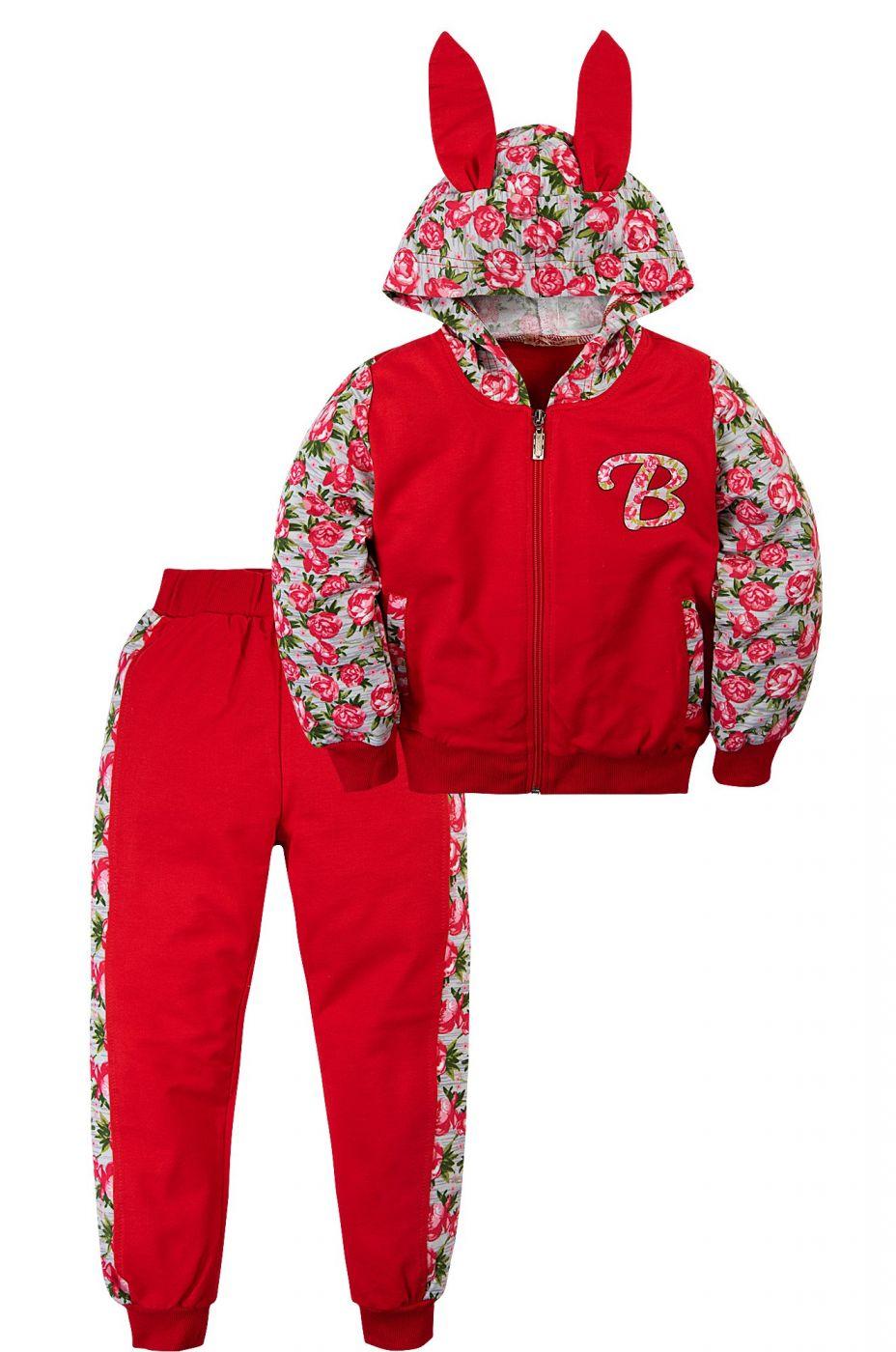 Спортивный костюм для девочек красный