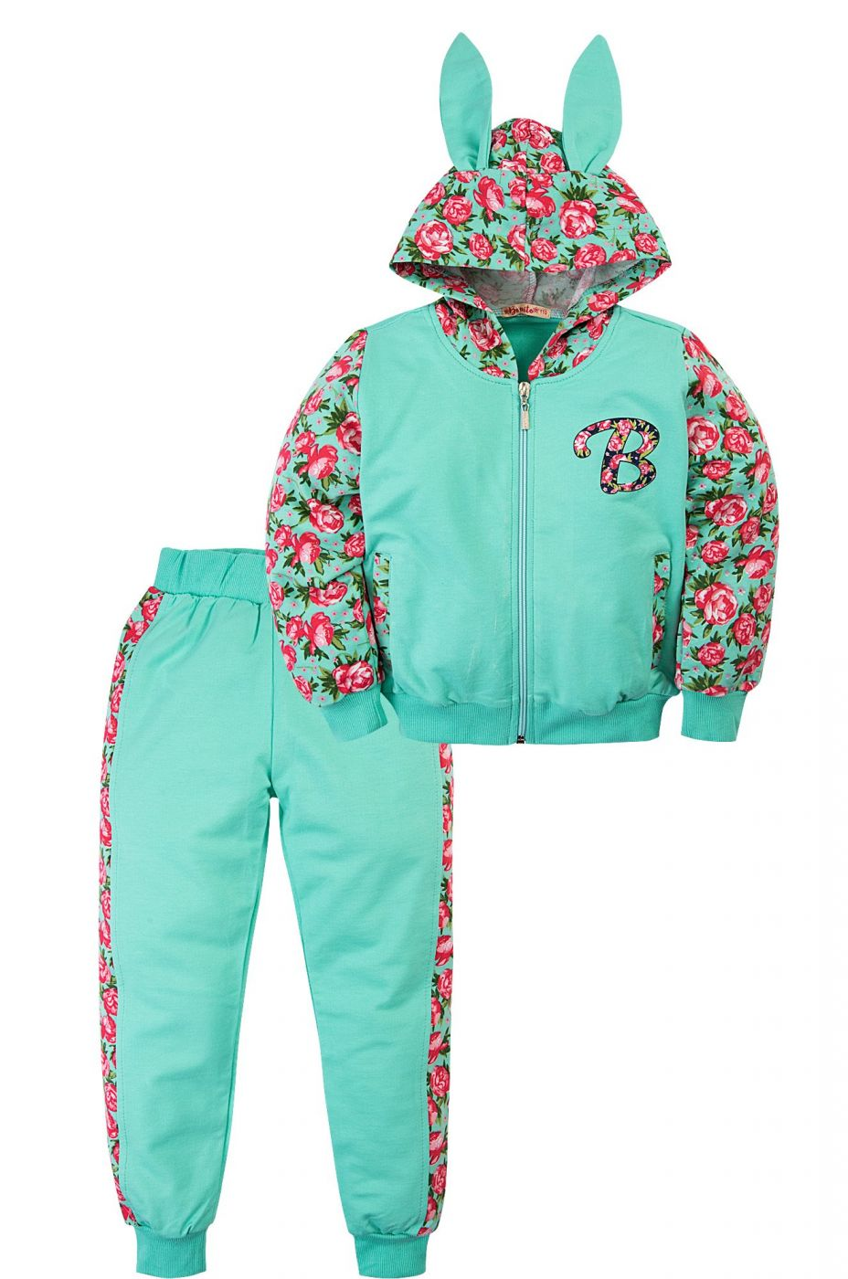 Спортивный костюм для девочек бирюзовый