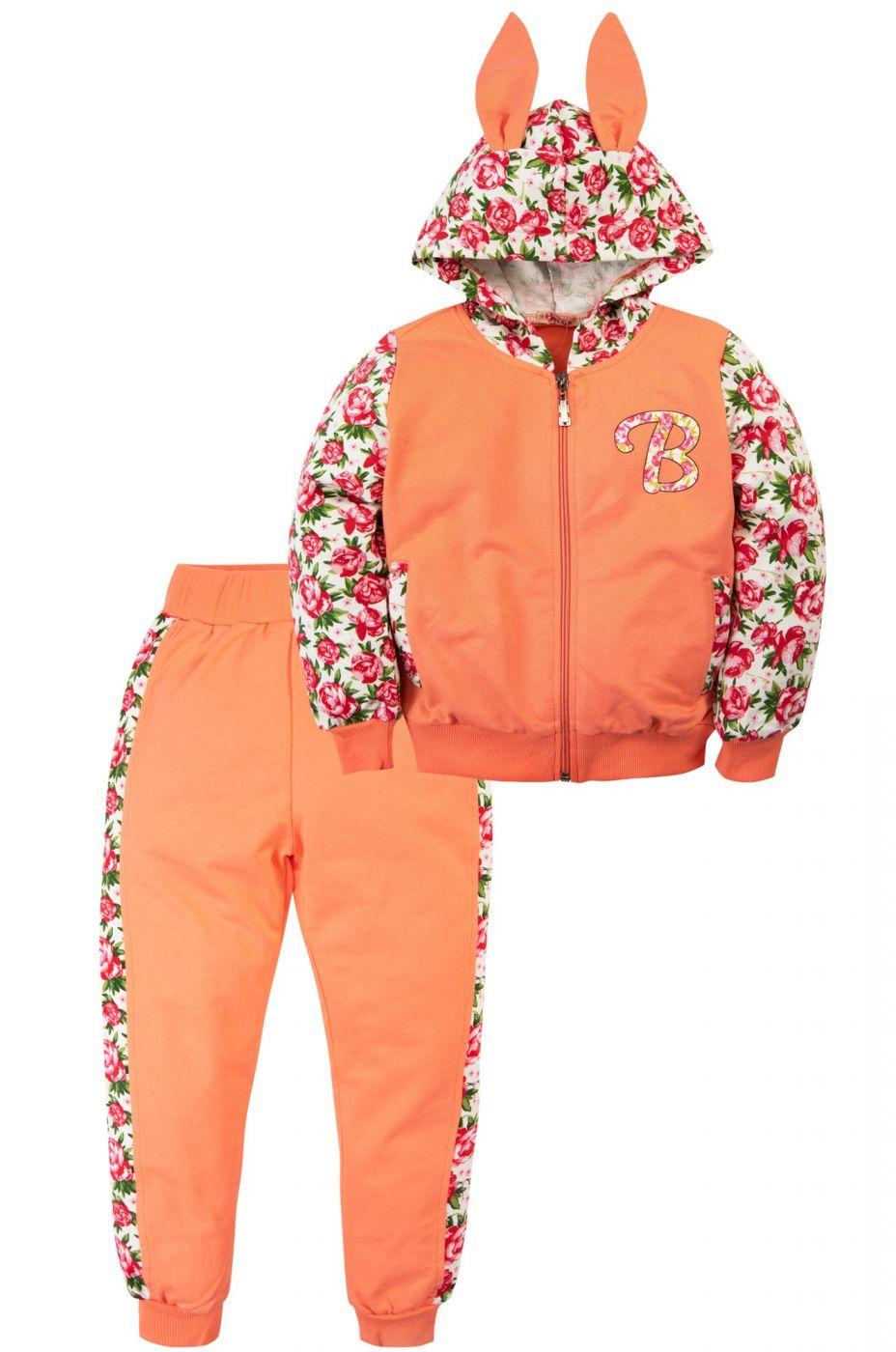 Спортивный костюм для девочек оранжевый