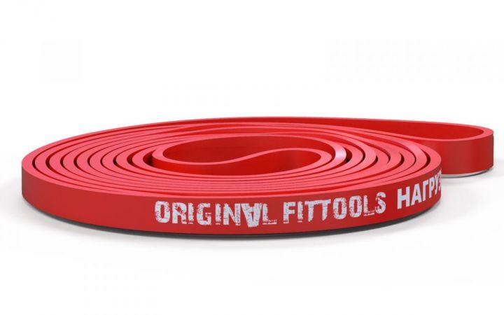 OriginalFitTools - Эспандер ленточный, окр. 208 см, толщ. 4,5 мм, шир. 13 мм. 5-15 кг. (красный)