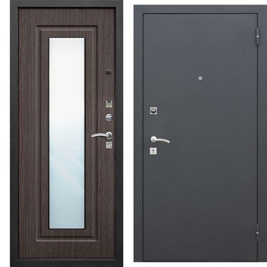 Входная дверь ЦАРСКОЕ ЗЕРКАЛО МУАР (венге)