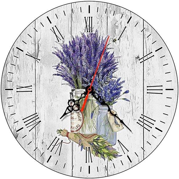 Часы деревянные ЛАВАНДА ПРОВАНС ЧС-02.20