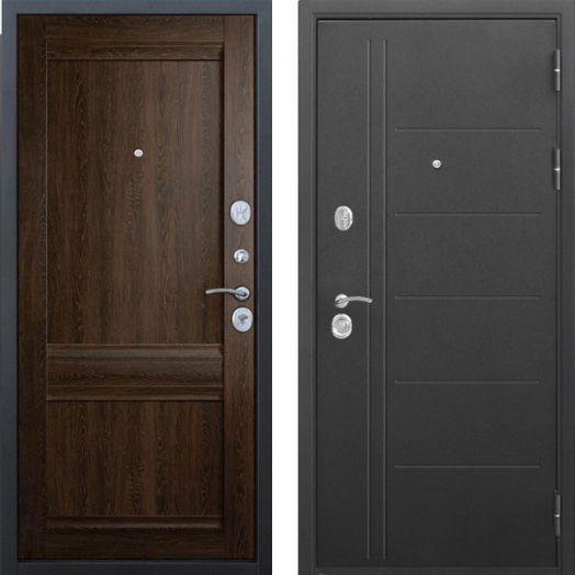 Входная дверь Троя Муар Царга 10 см (орех сиен)