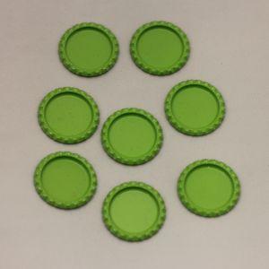 БРАК Крышка, материал металл, внутренний диаметр 25 мм, наружный 31 мм, цвет №08 (1 уп = 24 шт)