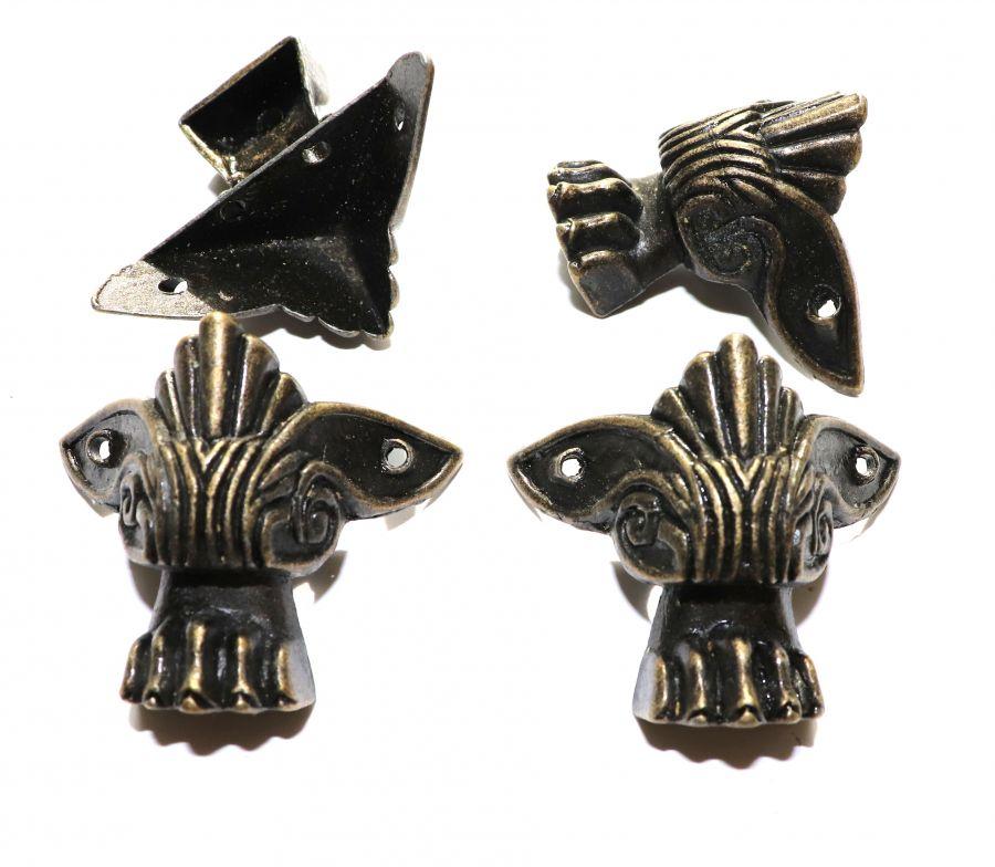 Ножка для шкатулки Лапа льва, цвет бронза, 40*40*40 мм, 4 шт/упак