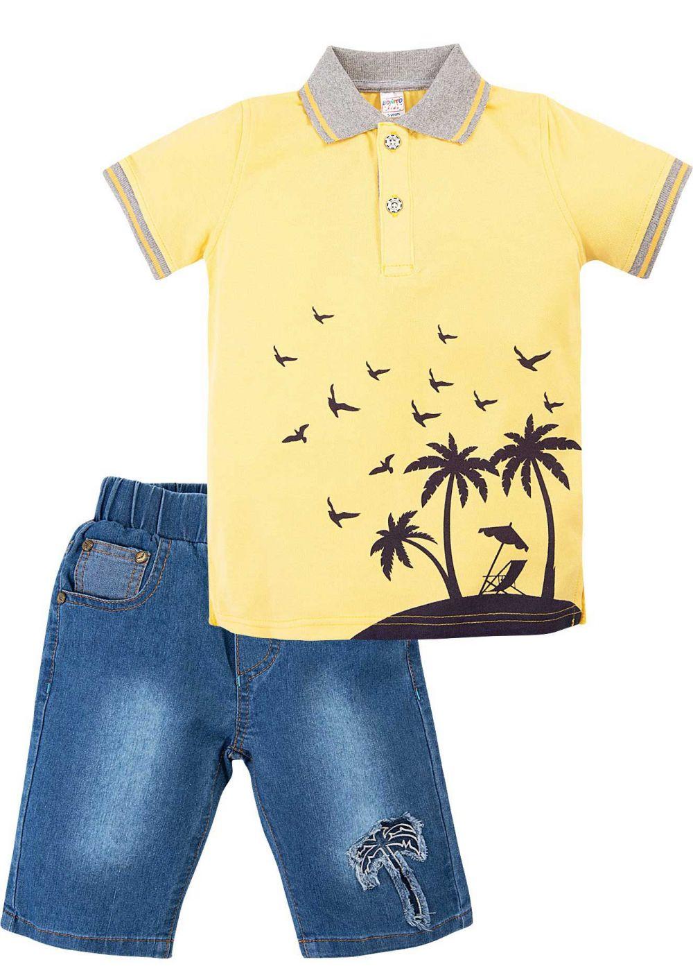 Костюм для мальчика Bonito жёлтый