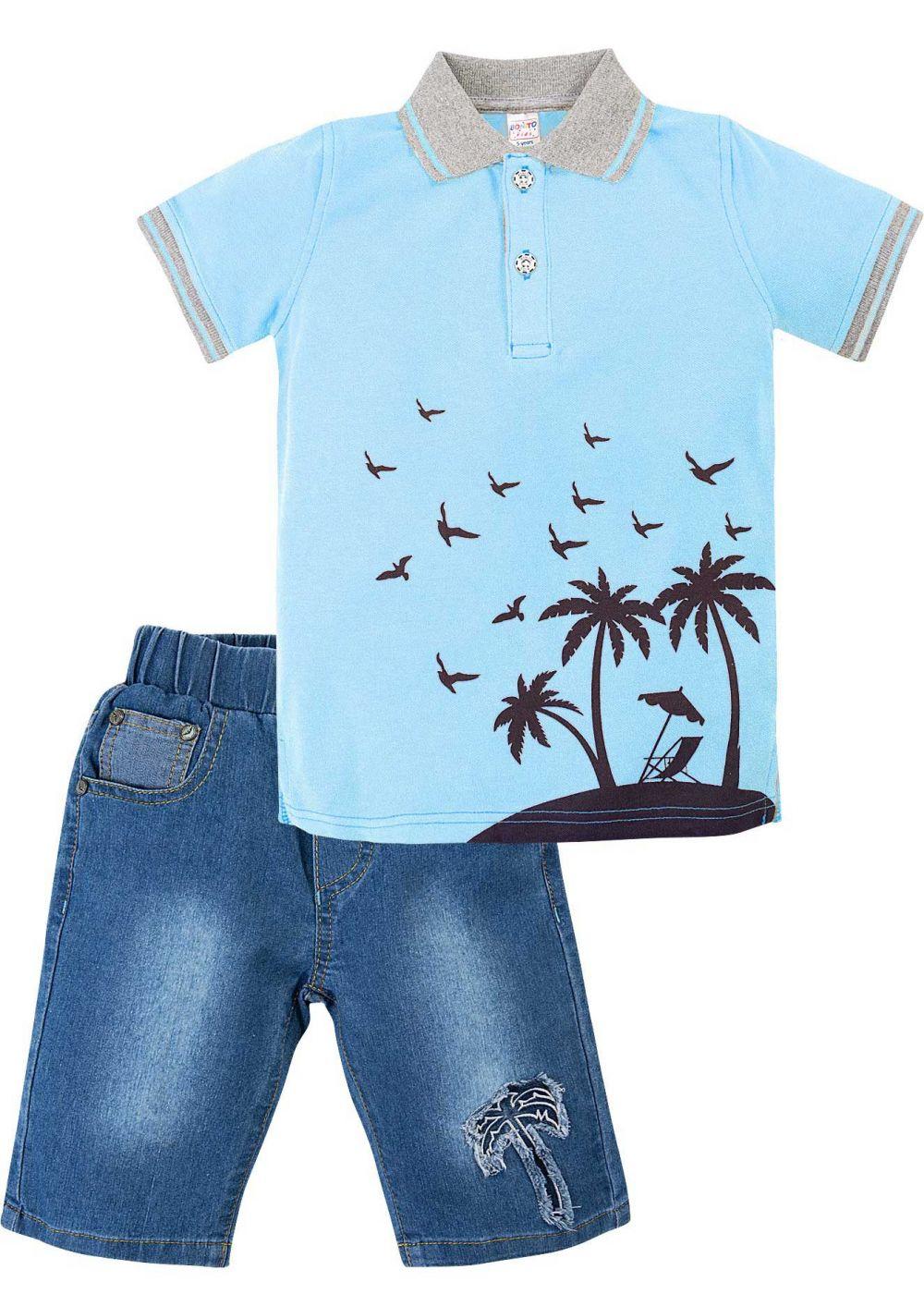 Костюм для мальчика Bonito голубой