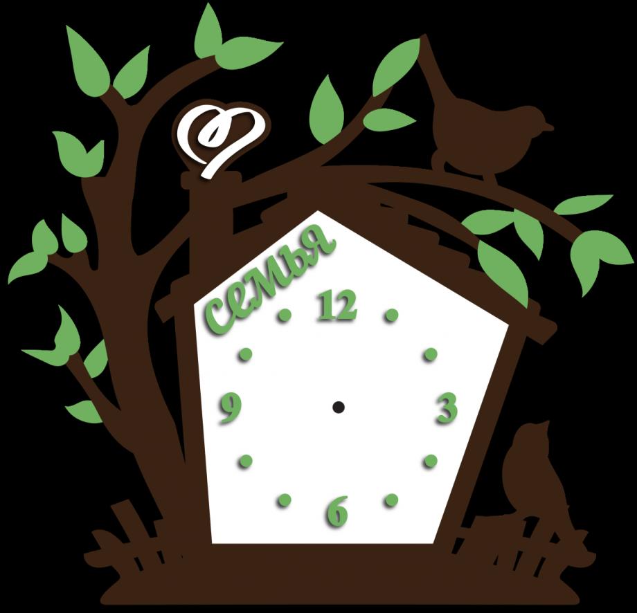 Часы настенные скворечник