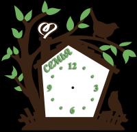 Часы настенные скворешник