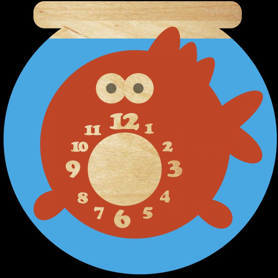 Часы настенные аквариум с рыбкой