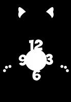 Часы настенные с собачкой