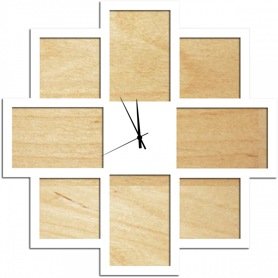 Часы с фоторамками настенные простые