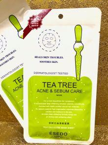 100 шт Шелковая маска-эссенция  Esedo Korea Tea Tree , 30 мл