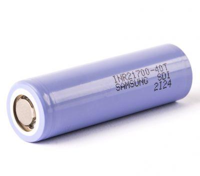 Аккумулятор Samsung INR21700-40T 21700 4000мАч без защиты, до 30А