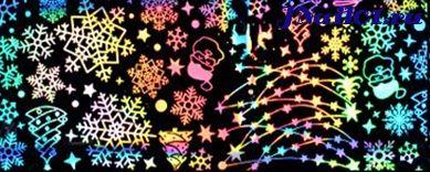 Лазерная фольга Новогодняя