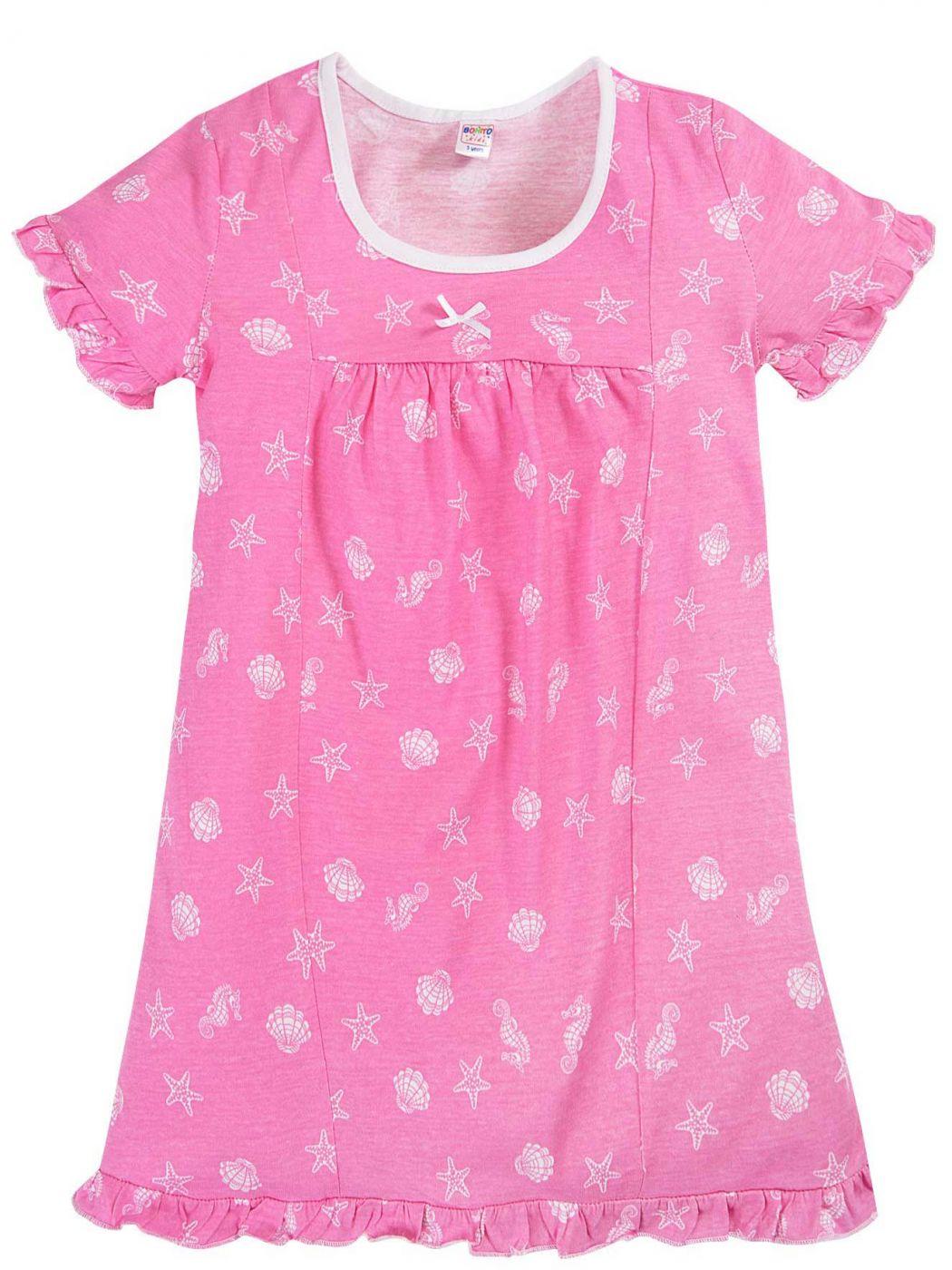 Сорочка для девочек розовая