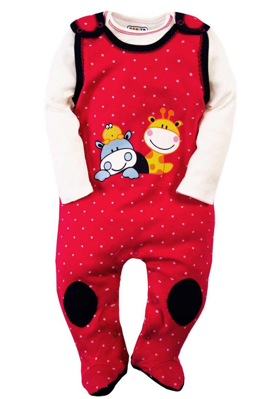 Костюм для новорожденных Bonito красный