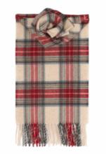 кашемировый шарф (100% драгоценный кашемир) , расцветка Королевский клан Стюарт Вечерний  ,STEWART EVE TARTAN LUXURY CASHMERE  плотность 7