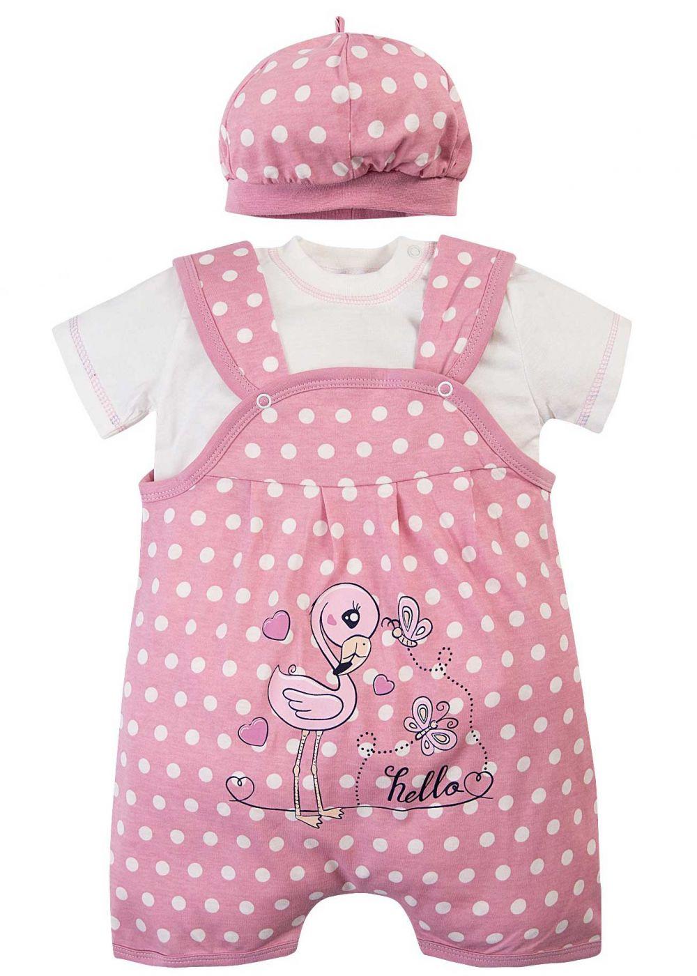 Комбинезон для новорожденных комплект Bonito фламинго