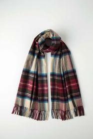 Роскошная классическая шотландская  шаль, высокая плотность, 100 % драгоценный кашемир ,  Тартан Стюарт  , вариант Гессе (премиум) Hessian Dress Stewart