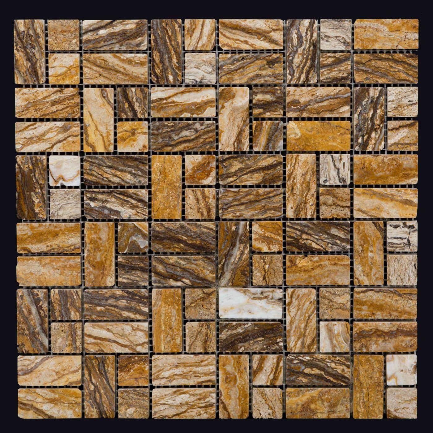 Мозаика из травертина  ART. MZ060