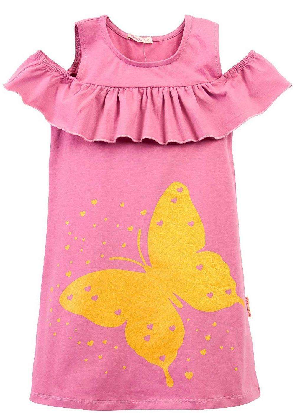 Платье на девочки Bonito сиреневое с бабочкой