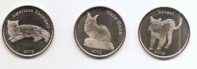 Кошки набор монет (3 монеты) 1 фунт  2019 Остров Строма